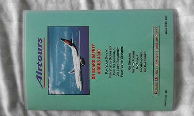Airtours Airbus A330 safety card