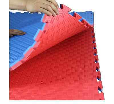 8 x EVA FOAM GYM & EXERCISE MATS x 8, JIGSAW EDGES FOR JOINING, 32mm THICK, NEW