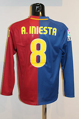 Camiseta Fc Barcelona Match Iniesta 2008 Shirt Player