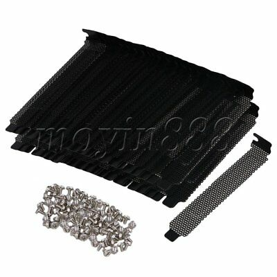 100PCS Black PCI Slot Cover Dust Bracket Blanking Case PC Desktop Computer