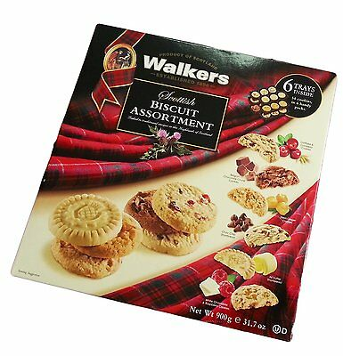 Walkers All Butter Shortbread Scottish Biscuits Assortment Large Box 900g
