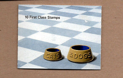 Great Britain 2001 Cats and Dogs Booklet Of 10 First Class Stamps