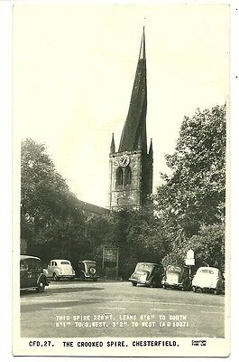 Chesterfield - a photographic postcard of the Crooked Spire