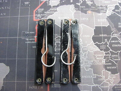 Vintage Pair 2 English Folding Travel Hangers England 550-054