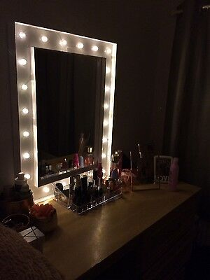 Large Hollywood Mirror 80 cm x 60 cm 24 LED lights white