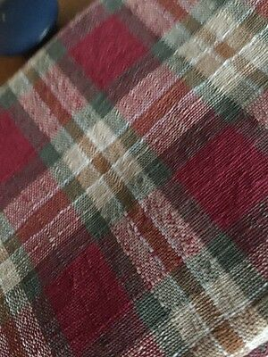 Longaberger Orchard Park Plaid 36 Inch Table Topper