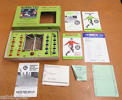 Vintage Subbuteo Table Soccer 'Continental' Display Edition Set, comes boxed