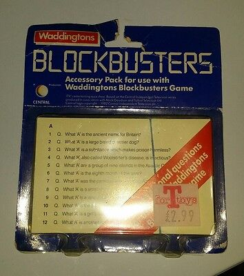 Vintage BLOCKBUSTERS Gold Run 1987 NEW Sealed Card pack Waddingtons Game RARE