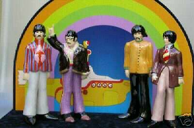 Beatles Yellow Submarine Complete New Set, Retired, Sold Out, Goebel Blue Case