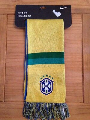 Brand New NIKE Brazil Brasil Football Scarf