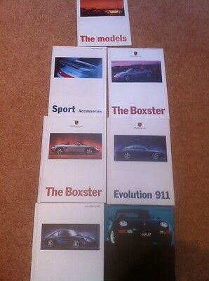 7 x PORSCHE SALES BROCHURES AND ACCESSORIES