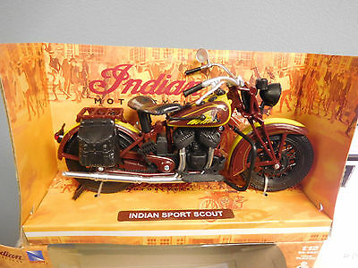 Indian Sport Scout Motorcycle 1;12 Die Cast New Ray