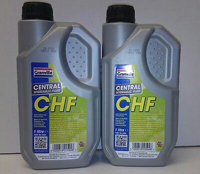 2 x CENTRAL HYDRAULIC FLUID CHF11S 1 Litre Granville 2594 Synthetic CHF 2 Litres