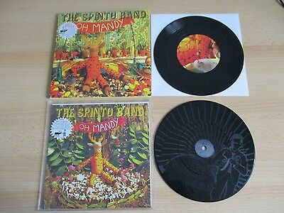 """THE SPINTO BAND 2 xVINYL 7"""" ETCHED DISC & (PS) – OH MANDYRDT 18 / SX18 - 2006"""