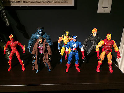 HOT LOT of Marvel Legends loose figures - Gambit, Beast, Ghost Rider, Ironman ++