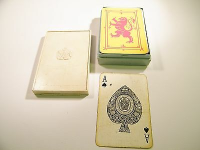 Vintage Waddingtons Playing Cards Co Ltd Leeds And London Yellow & Red Lion Card