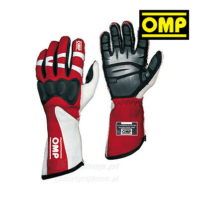 OMP HTG red Racing Gloves (with FIA homologation) - Genuine - XS