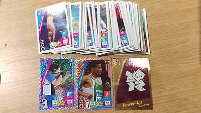 71 different Panini Adrenalyn London 2012 Olympic Games Trading Cards