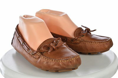 Frye Campus Womens Brown Distressed Driver Moc Sz 8.5M Flat Leather Shoes
