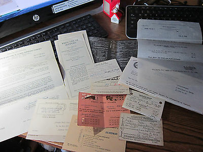 Antique LOT of 14  MILITARY letters and cards WWII 40'S War Veterans info ect