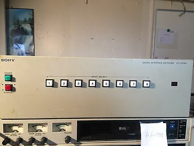 Sony PC-1270 M Signal Interface Switcher COMMUTATEUR PRO 8 CANAUX AUDIO /VIDEO