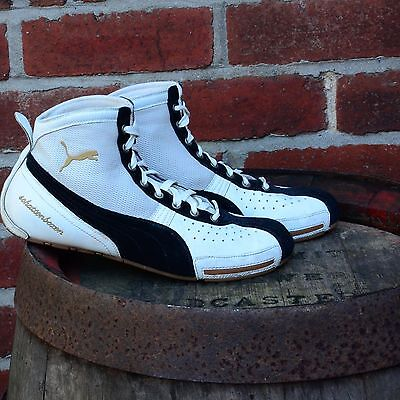 PUMA Schattenboxen Boxing Boots White and Black, Lace up Size UK 10
