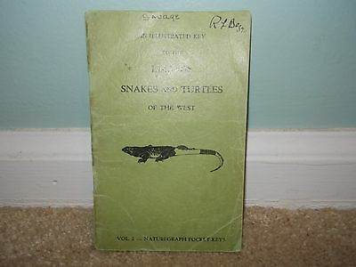 Vintage Lizards Snakes & Turtles Of The West Illustrated Key Booklet 1949 *Rare*