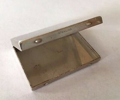 """Antique Sterling Silver Snuff - Pill Box 1.5"""" x 1.25"""" Etched # 171-269 STERLING"""