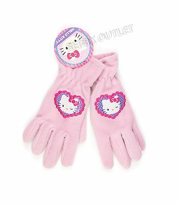 New Girls Hello Kitty Winter Gloves Pink One Size