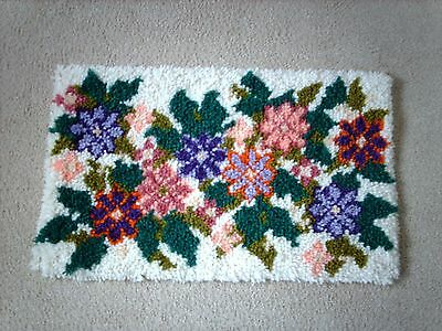 compleated latch hook homemade rug