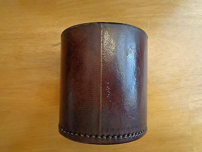 Vintage Leather Dice Cup. Stitched.