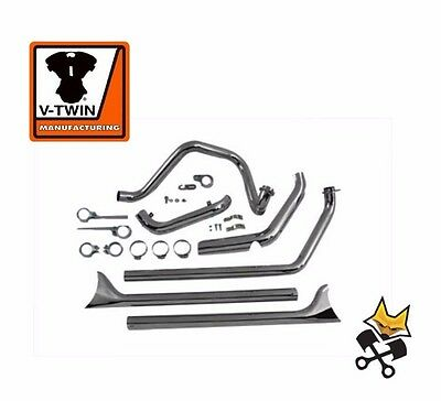Chrome True Dual Exhaust System With Fishtails Harley 1970-84 Flh Shovel 29-1192