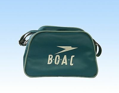 Boac First Class Toiletry Flight Bag, 1960, Teal