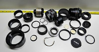 Lot  26 Camera Parts from 35mm Vintage