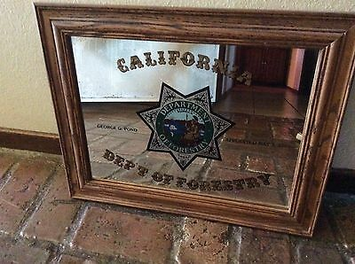 Very rare California dept of forestry Advertising Mirror ,fire