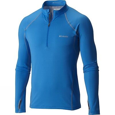 COLUMBIA Midweight Stretch Baselayer Thermal Long Sleeve HalfZip Shirt SIZE L