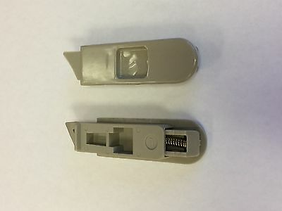 A Pair of Gray Recessed Window Sash Tilt Latches 7200F-GRAY