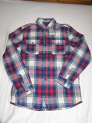 BNWT Next Boys Lined Checked Shirt Age 14 Years