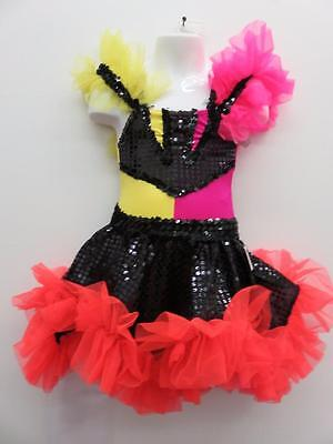 Dance Costum Extra Small Child Sassy Ruffled 2PC Jazz Tap  Solo Competition