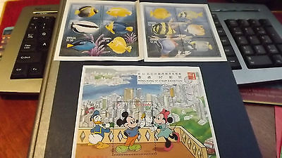 Grenada 3 mini sheets 13 mint unused stamps Mickey Mouse & Fish