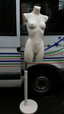 White Shiny  Female Torso Shop Display  Mannequin / Stand No Head
