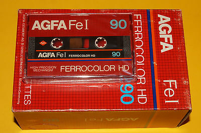 10x AGFA Fe I 90 FERROCOLOR HD Cassette Tapes 1982 + NEW & SEALED +
