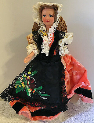 Vintage Doll of the World Travel Souvenir France French Woman