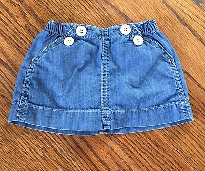 Baby Gap Denim Skirt/Skort~ 6-12 Months- Infant Baby Girl