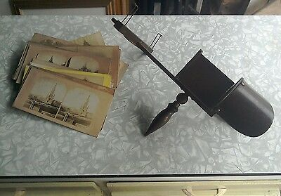 Antique Victorian Wooden Stereoscopic Picture Card Viewer 20 Original Photograph