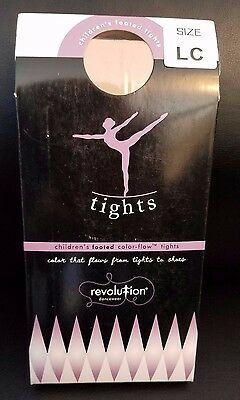 Kids Revolution Dancewear Footed Color Flow Tights Classic Pink Large Child LC