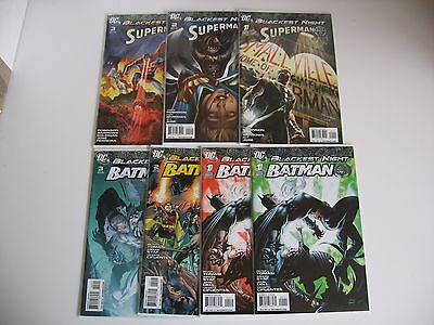 Blackest Night Superman & Batman #1-2-3 complete NM condition