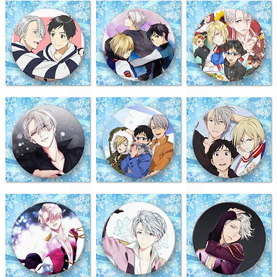 Lot of & Fashion Japanese Anime YURI!!! on ICE Badge Brooch Chest Pin Button
