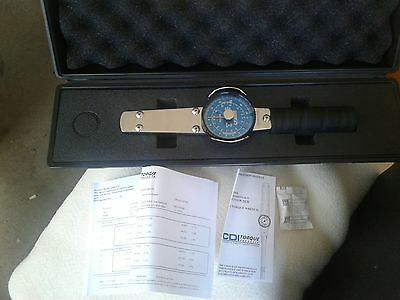 """CDI 751LDIN Dial Indicating Torque Wrench, 1/4"""" Drive, Dual Scale, 0"""" to 75"""" Lbs"""