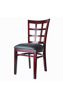 Wholesale Restaurant Window Back Mahogany Chairs on lot of 40